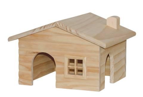 Dřevěný domek s oknem 38x35x25cm