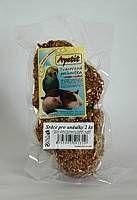 Apetit - srdce pro andulky 2ks, (sáček), tvarované krmivo, pochoutka pro ptáky s medem