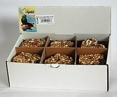 Apetit - srdce pro papoušky 18ks, (krabička), tvarované krmivo, pochoutka pro ptáky s medem
